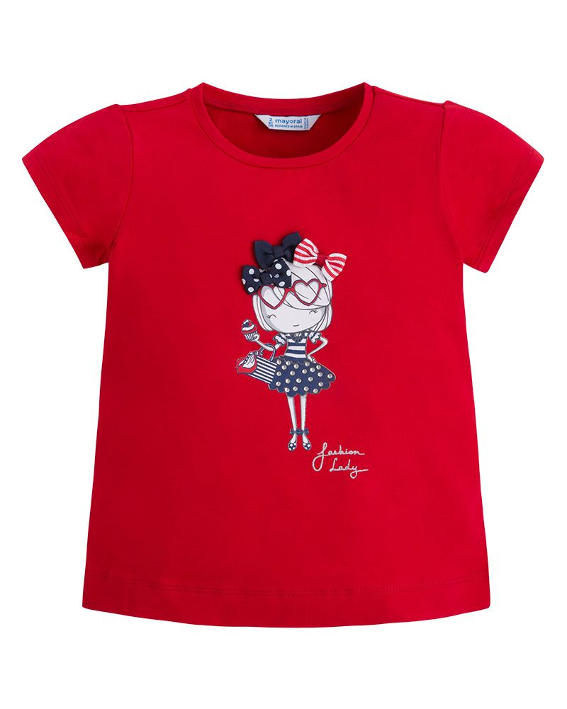 Mayoral Mädchen T-Shirt Fashion Lady rojo rot