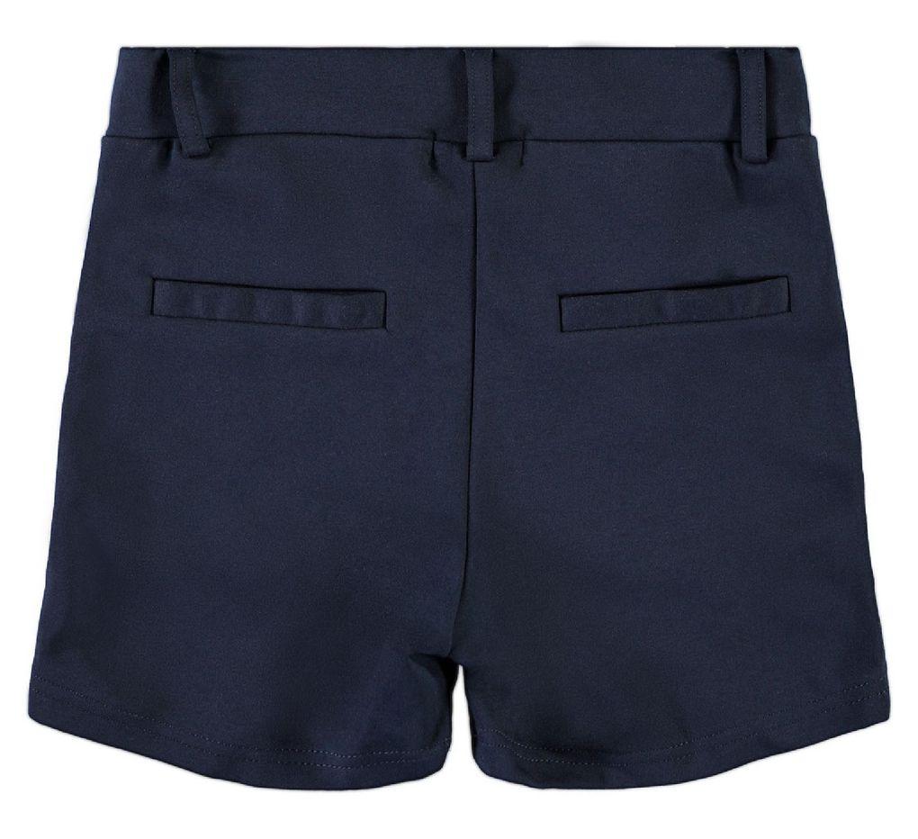 Name it Mädchen festliche Jersey-Shorts unifarben dunkelblau NKFIDA – Bild 2