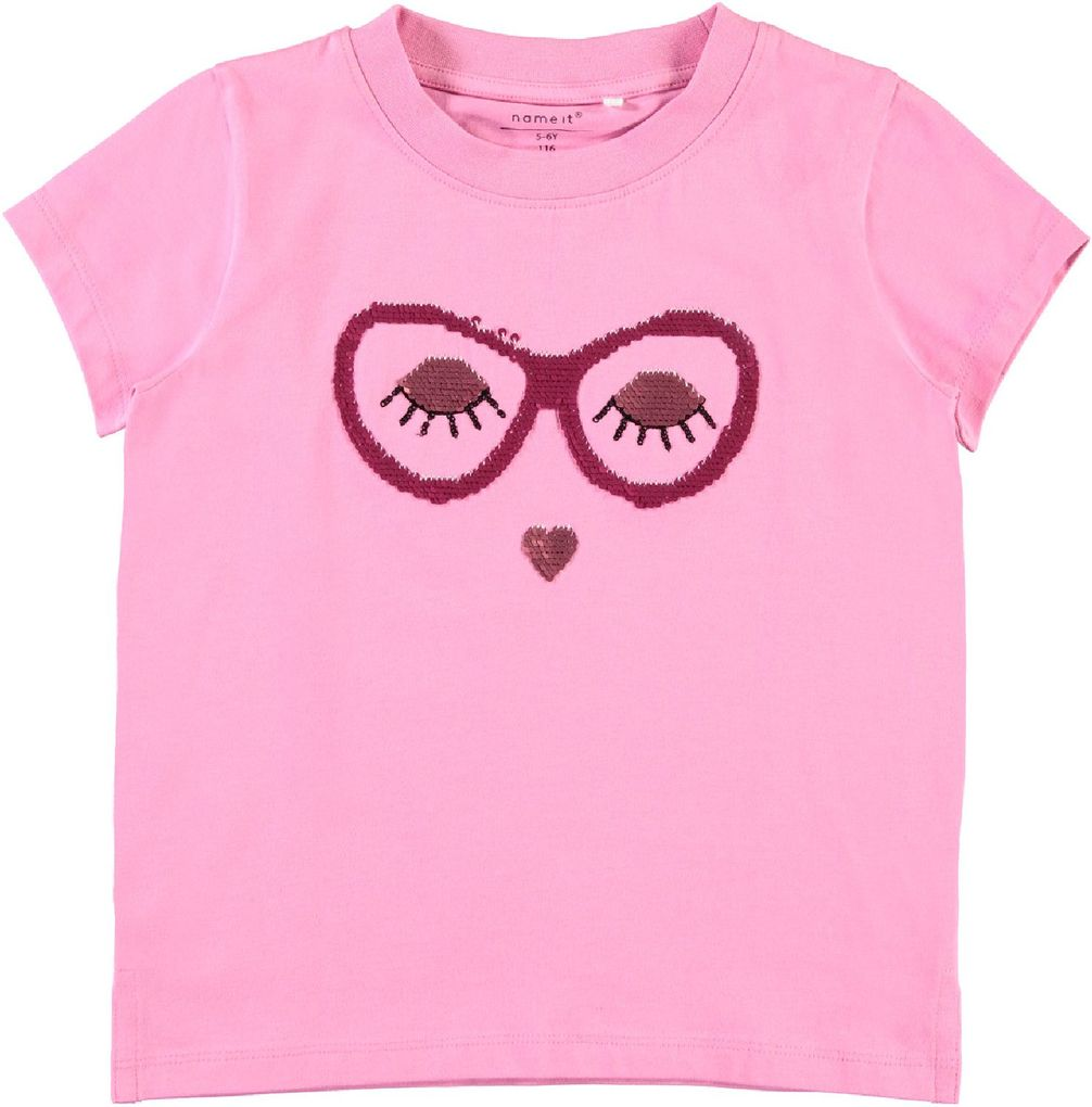 Name it Kids Mädchen T-Shirt Wendepailletten NKFille