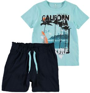 Name it Jungen Sommer-Set T-Shirt und Shorts Surfer NKMZimak