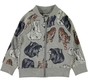 Name it mini Jungen Sweatjacke All-Over-Print NMMGANIMAL