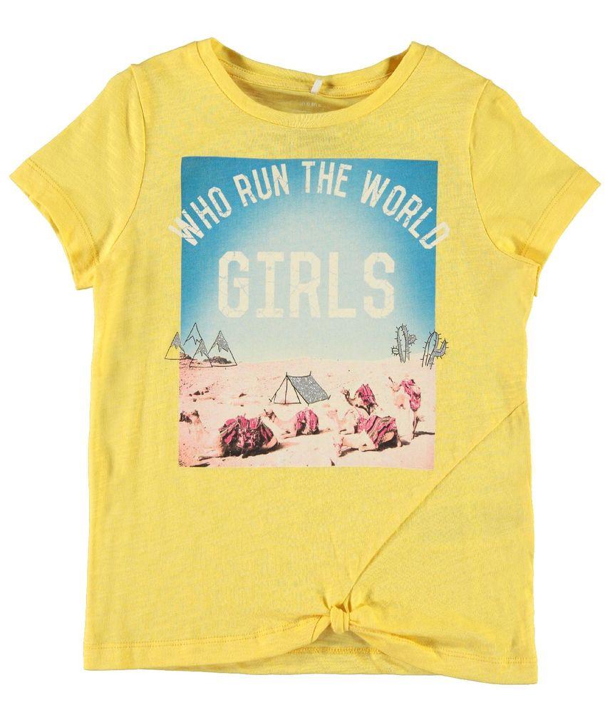 Name it Mädchen T-Shirt kurzarm Bio-Baumwolle NKFKAROLINA