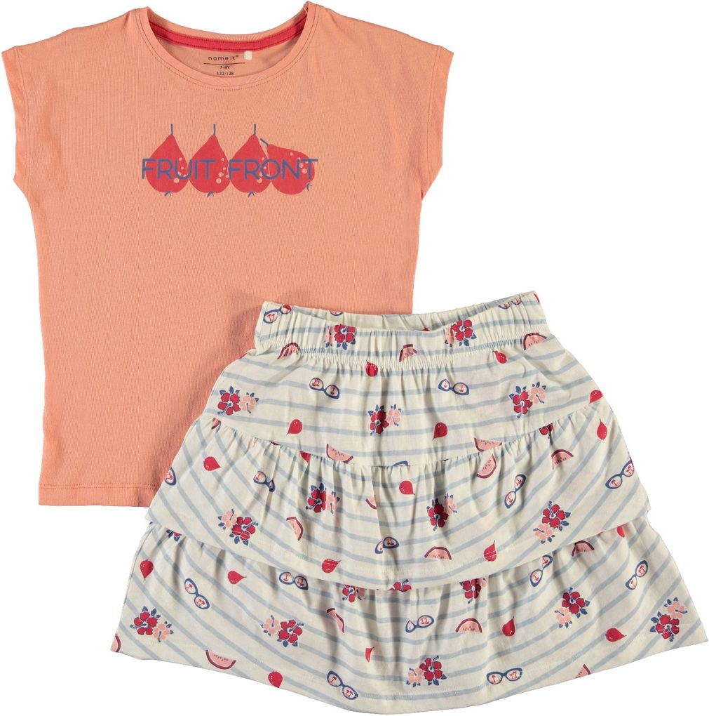 Name it Kids Mädchen Sommer-Set T-Shirt & Rock NKFVEGAS – Bild 10