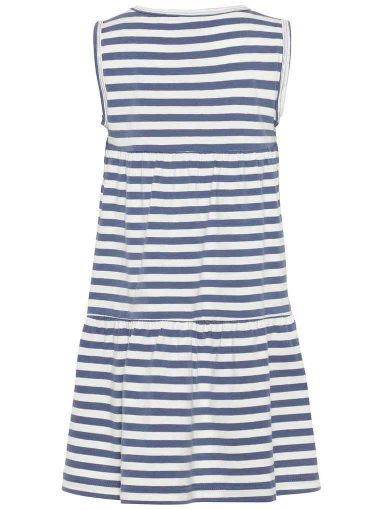 Name it Mädchen ärmelloses Jersey-Stufenkleid gestreift NMFDIANA – Bild 5