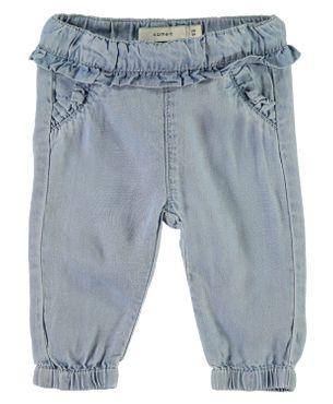 Name it Baby Sommer-Jeanshose mit Rüschen NBFRie light blue denim 001
