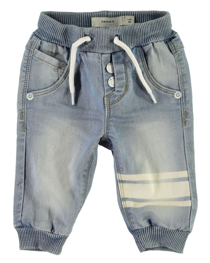 Name it Baby Jeanshose mit Schlupfbund NBMBOB light blue denim – Bild 1